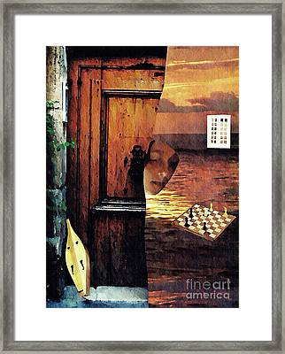 Between Framed Print by Sarah Loft