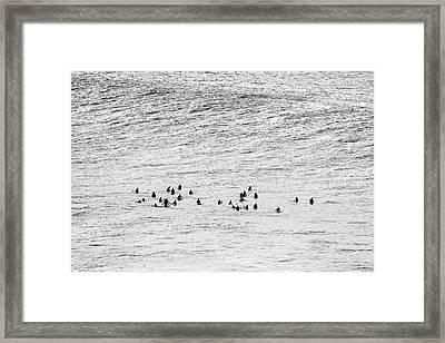 Between Sets Framed Print by Sean Davey