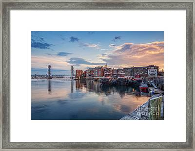 Between Shifts Framed Print by Scott Thorp