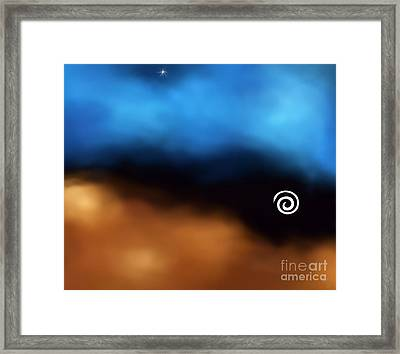 Between Space And Time Framed Print by Cheryl Gidding