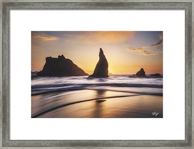 Between Sun And Sea Framed Print by Peter Coskun