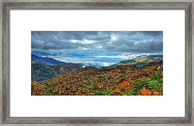 Between The Clouds Blue Ridge Parkway North Carolina Art Framed Print by Reid Callaway