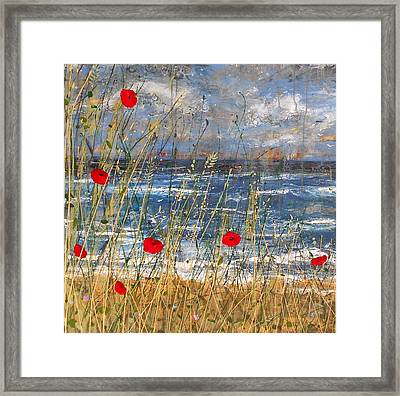 Between The Crosses Detail Framed Print