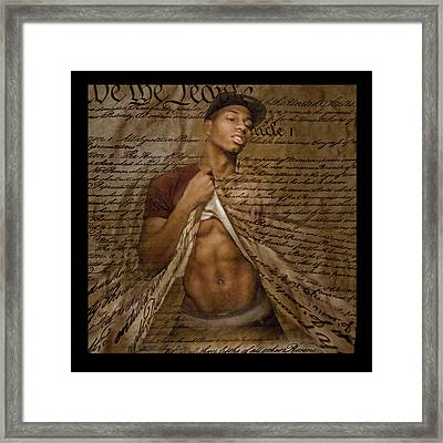 Between The Lines The Grand Miscalculation Framed Print by TuTchT LoJoWerkz
