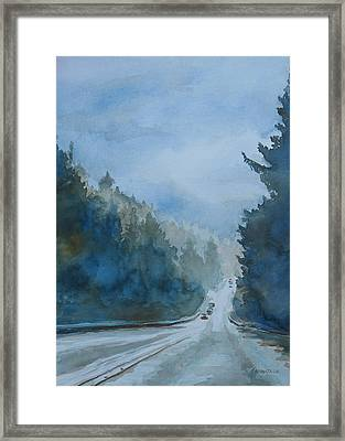 Between The Showers On Hwy 101 Framed Print