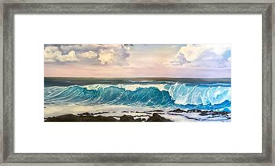 Between The Turtle And The Shark Framed Print