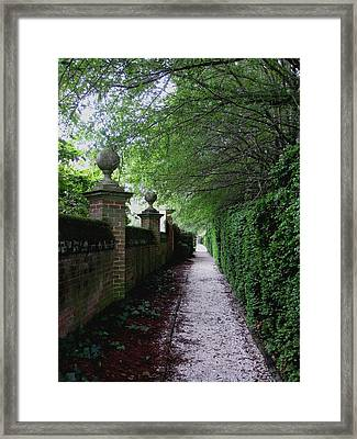Between The Walls Framed Print