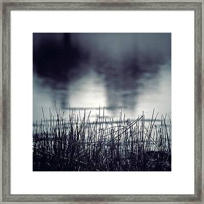 Framed Print featuring the photograph Between The Waters by Trish Mistric