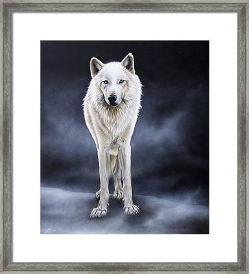 'between The White And The Black' Framed Print by Sandi Baker