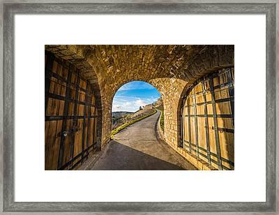 Between Two Doors Framed Print by Motty Henoch
