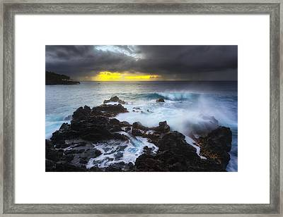 Framed Print featuring the photograph Between Two Storms by Ryan Manuel
