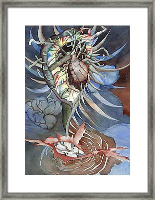 Between Two Worlds Framed Print by Liduine Bekman