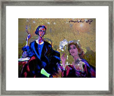 Between Us Gal Framed Print by Noredin Morgan
