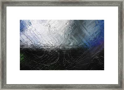 Framed Print featuring the digital art Between Us, This Melancholy Sea by Wendy J St Christopher