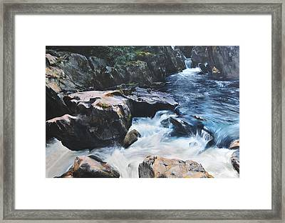 Betws-y-coed Waterfall Framed Print by Harry Robertson