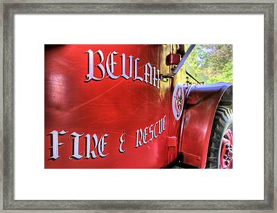 Beulah Vfd Framed Print by JC Findley