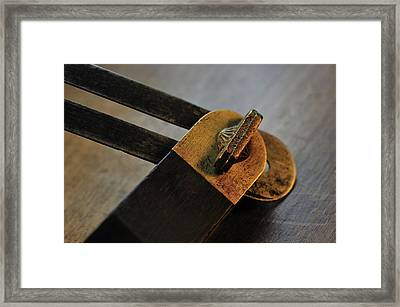 Bevel Square Framed Print by Wilma  Birdwell