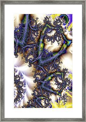 Beveled Sheild Fractious Framed Print