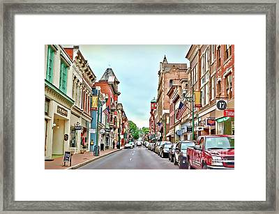 Framed Print featuring the photograph Beverley Historic District - Staunton Virginia - Art Of The Small Town by Kerri Farley