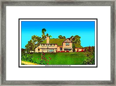 Beverly Hills Home Of Corinne Griffith, 1930's Framed Print
