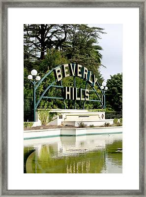 Beverly Hills Reflection Framed Print by Art Block Collections
