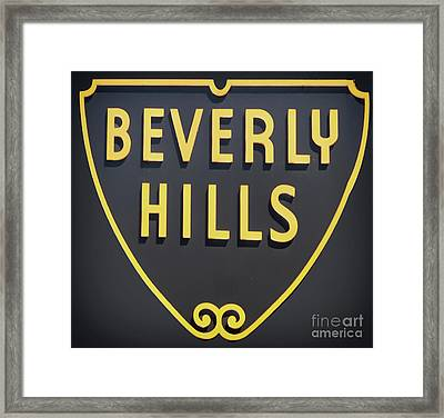 Beverly Hills Sign Framed Print