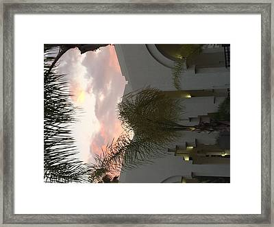 Beverly Hills Sunset Framed Print