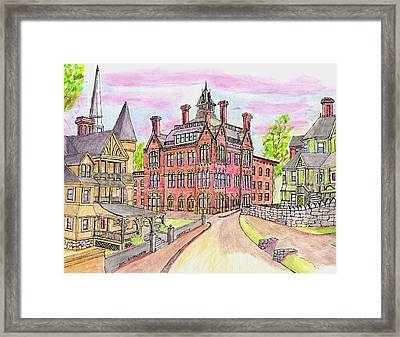 Beverly Odd Fellows Hall Framed Print