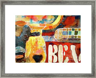 Bevo Unplugged Framed Print