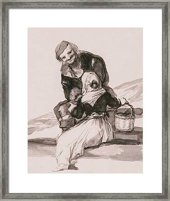 Beware Of The Advice Framed Print by Francisco Goya