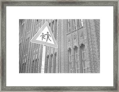 Beware Of The Children Framed Print