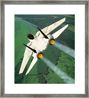 Beware The Dove Framed Print by Dieter Carlton