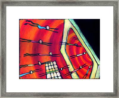 Framed Print featuring the painting Beware Unconsciousness by Angela Treat Lyon