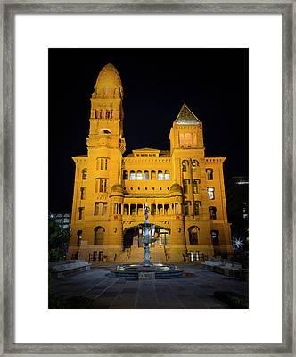 Bexar County Courthouse Illumination Framed Print