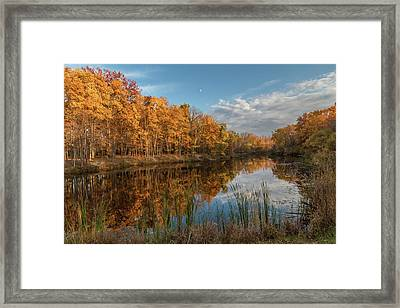 Beyer's Pond In Autumn Framed Print