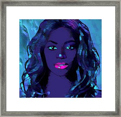 Beyonce Graphic Abstract Framed Print