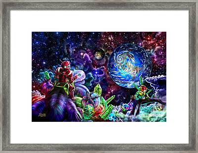 Beyond Barsoom Framed Print by Nigel Andreola