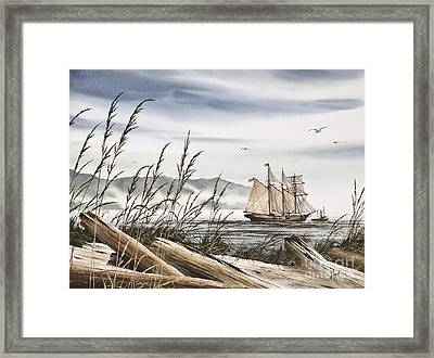 Beyond Driftwood Shores Framed Print