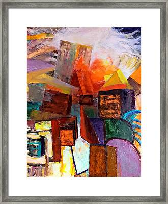 Framed Print featuring the painting Beyond by Nicolas Bouteneff