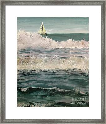 Beyond The Breakers Framed Print