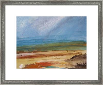 Framed Print featuring the painting Beyond The Colors by Trilby Cole