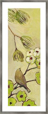 Beyond The Dogwood Tree Framed Print by Jennifer Lommers