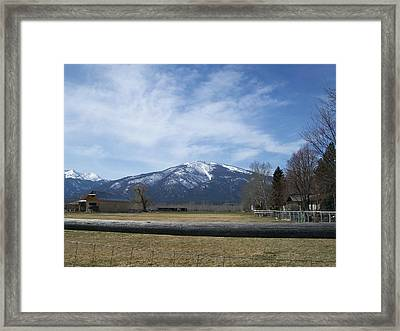 Beyond The Field Framed Print by Jewel Hengen