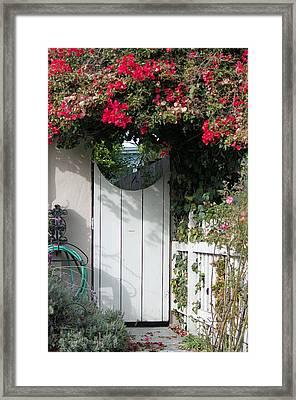 Beyond The Garden Gate Framed Print by Suzanne Gaff