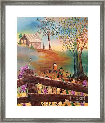 Framed Print featuring the painting Beyond The Gate by Denise Tomasura