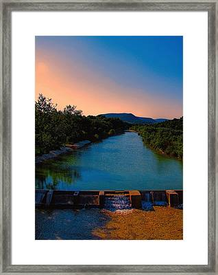 Beyond The Golden Hour Framed Print by Wendy J St Christopher