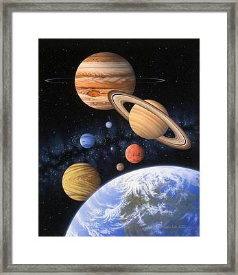 Beyond The Home Planet Framed Print