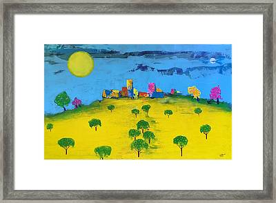 Beyond The Lemon Grove Framed Print