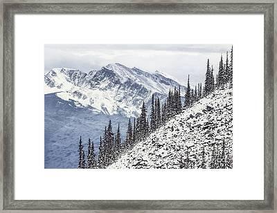 Beyond The Northern Hills Framed Print by Evelina Kremsdorf