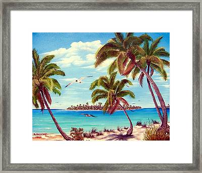 Beyond The Palms Framed Print by Riley Geddings